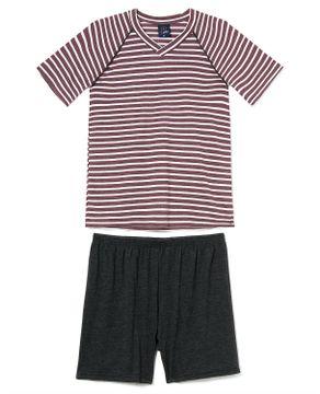 Pijama-Masculino-Curto-Toque-Viscoflex-Listrado